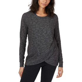 tentree Acre LS Shirt Women meteorite black marled